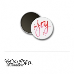 Scrapbook and More Round Flair Badge Button Joy by Beshka Kueser