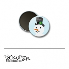 Scrapbook and More Round Flair Badge Button Magic Snowman by Beshka Kueser