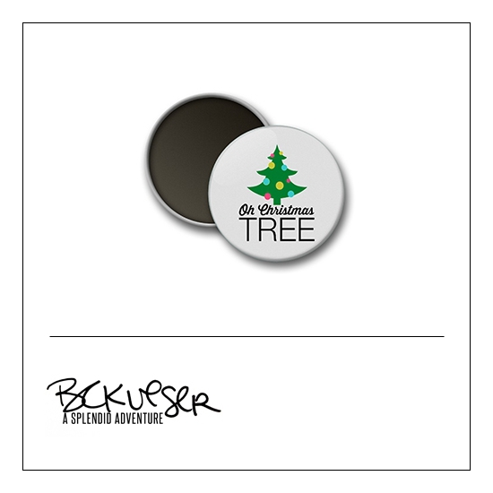 Scrapbook and More Round Flair Badge Button Oh Christmas Tree by Beshka Kueser