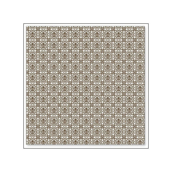 Hambly Screen Prints Overlay Transparency Grandmas Wallpaper Brown