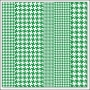 Hambly Screen Prints Overlay Transparency Houndstooth Green