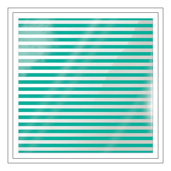 We R Memory Keepers Acetate Sheet Cleary Bold Neon Teal Stripe Clearly Bold Collection