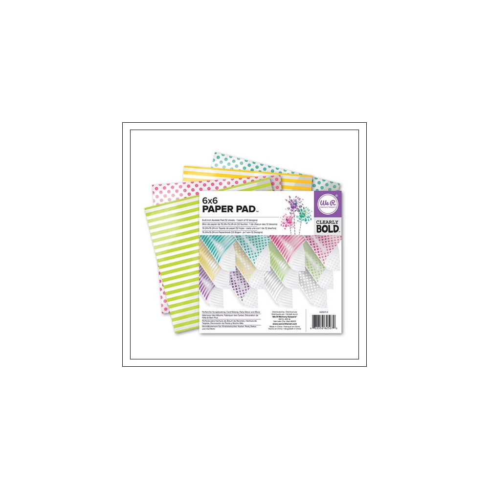 We R Memory Keepers Acetate Pad 6x6 inches Clearly Bold Collection