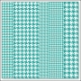 Hambly Screen Prints Overlay Transparency Houndstooth Teal