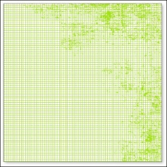 Hambly Screen Prints Overlay Transparency Mini Graph Lime Green