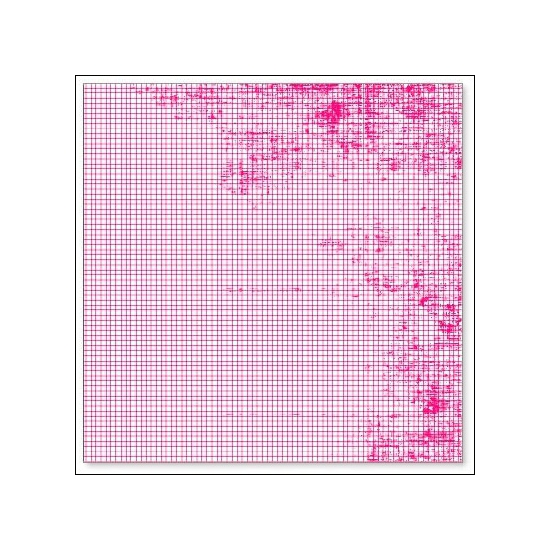 Hambly Screen Prints Overlay Transparency Mini Graph Pink
