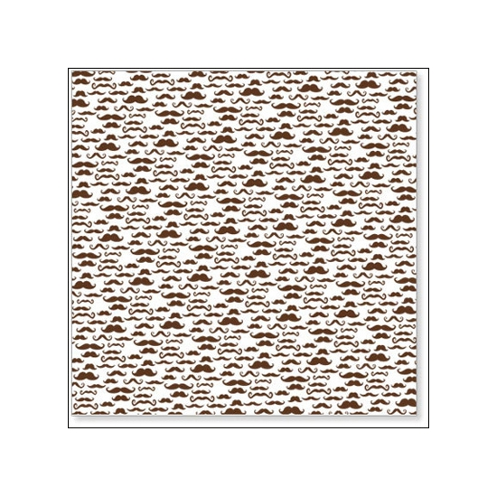 Hambly Screen Prints Overlay Transparency Mini Moustaches Brown