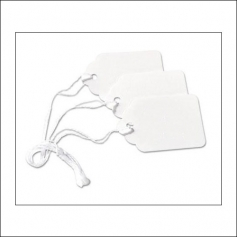 Scrapbook and More Marking Tags Medium White With Strung