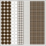 Hambly Screen Prints Overlay Transparency Mod Circles Brown