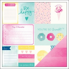 American Crafts Paper Sheet Cotton Candy Serendipity Collection by Dear Lizzy