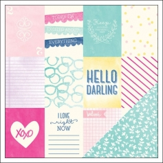 American Crafts Paper Sheet Hello Honey Serendipity Collection by Dear Lizzy