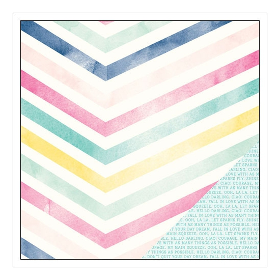 American Crafts Paper Sheet Good Vibes Serendipity Collection by Dear Lizzy