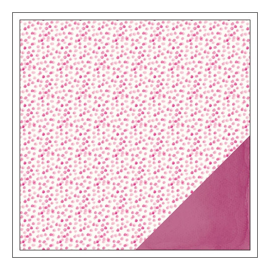 American Crafts Paper Sheet Razzleberry Serendipity Collection by Dear Lizzy