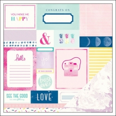 American Crafts Paper Sheet Smitten Serendipity Collection by Dear Lizzy