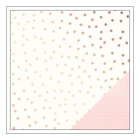 American Crafts Paper Sheet Very Vanilla Serendipity Collection by Dear Lizzy
