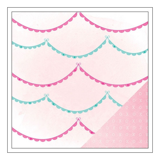American Crafts Paper Sheet Ohh La La Serendipity Collection by Dear Lizzy