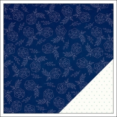 American Crafts Paper Sheet Bright Blueberry Serendipity Collection by Dear Lizzy