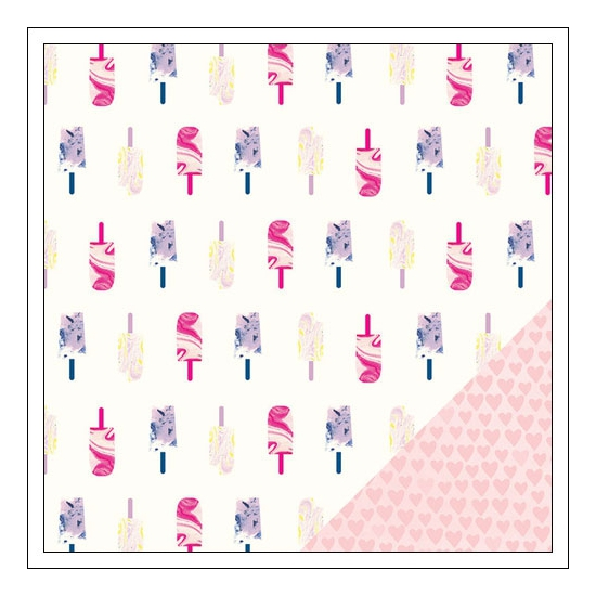 American Crafts Paper Sheet I Heart You Serendipity Collection by Dear Lizzy