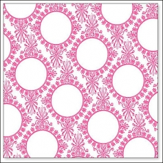 Hambly Screen Prints Overlay Transparency Vintage Circles Wallpaper Pink