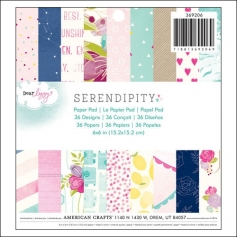 American Crafts Paper Pad 6x6 Serendipity Collection by Dear Lizzy