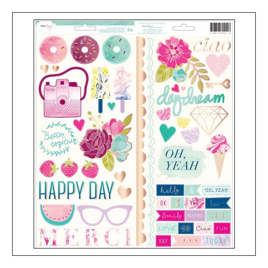American Crafts Accent and Phrase Stickers Serendipity Collection by Dear Lizzy