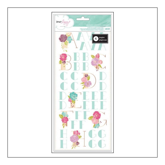 American Crafts Letter and Number Sticker Book Serendipity Collection by Dear Lizzy