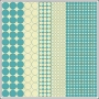 Hambly Screen Prints Two Tone Paper Mod Circles Teal Blue