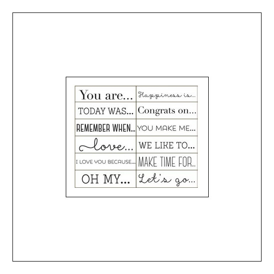 American Crafts Roller Phrase Stamp Serendipity Collection by Dear Lizzy