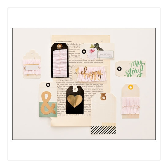 Crate Paper Layered Tags Open Book Collection by Maggie Holmes