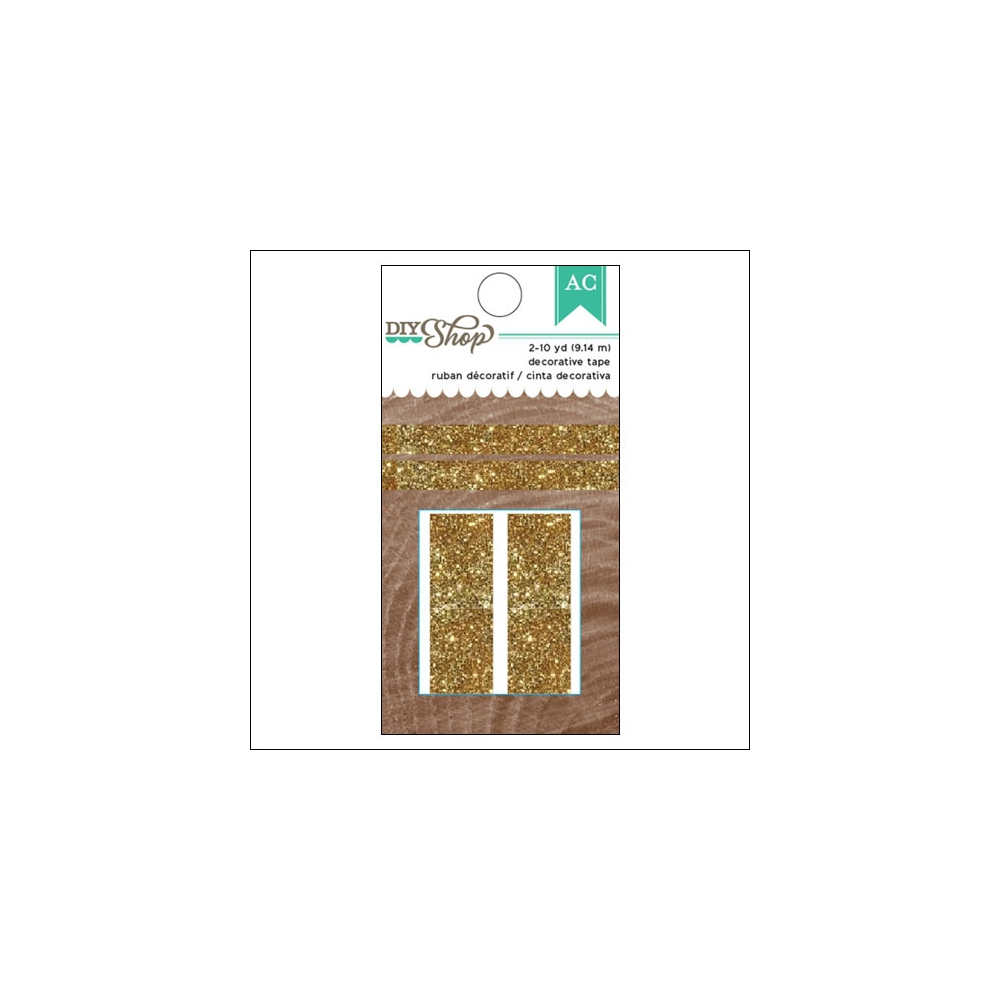 American Crafts Glitter Tape Gold DIY Shop 2 Collection
