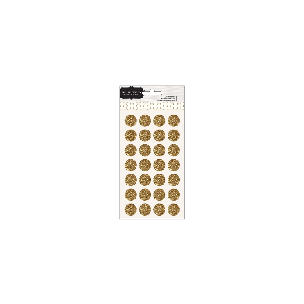 Pebbles Gold Glitter Stickers Hand-Made Collection by Jen Hadfield