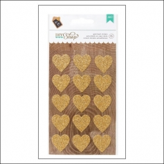 American Crafts Gold Glitter Heart Stickers DIY Shop 2 Collection