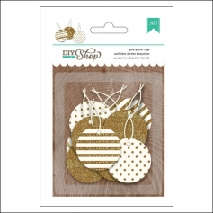 American Crafts Round Gold Glitter Tags DIY Shop 2 Collection