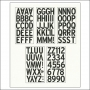 American Crafts Large Alphabet Stickers Black DIY Shop 2 Collection
