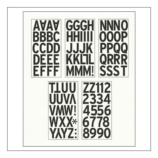 American Crafts Large Alphabet Stickers Black DIY Shop 2 Collection