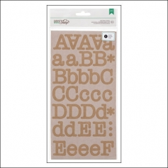 American Crafts Large Alphabet Stickers Kraft Typewriter DIY Shop 2 Collection