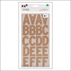American Crafts Large Alphabet Stickers Kraft DIY Shop 2 Collection