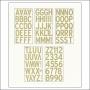 American Crafts Large Alphabet Stickers Kraft DIY Shop 2 Collection