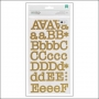 American Crafts Large Alphabet Stickers Gold Foil Typewriter DIY Shop 2 Collection
