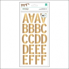 American Crafts Large Alphabet Stickers Gold Foil DIY Shop 2 Collection