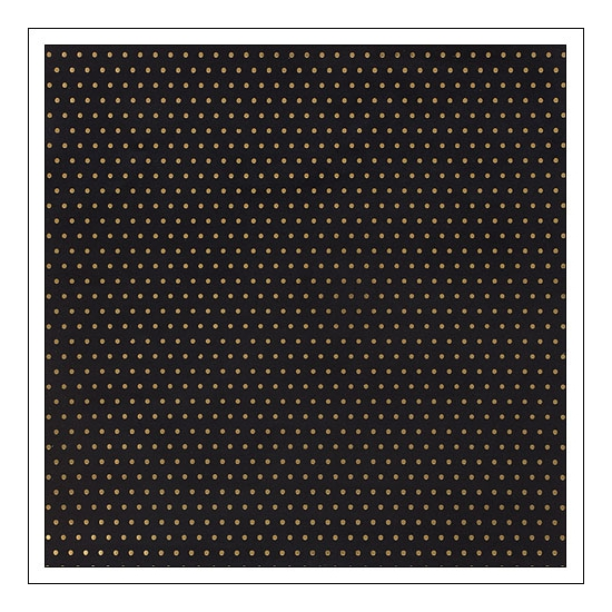 American Crafts Paper Sheet Gold Foil Dots On Black Paper DIY Shop 2 Collection