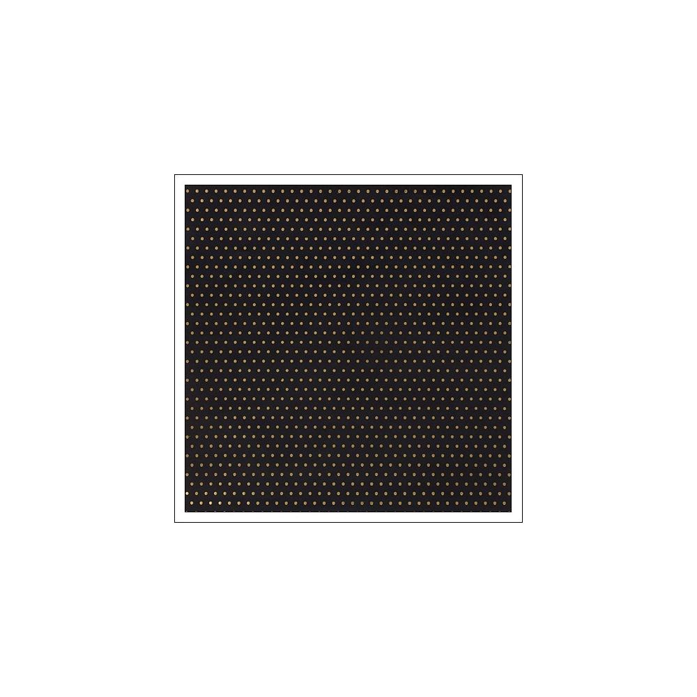 American Crafts Paper Sheet Gold Foil Dots On Black Paper DIY Shop 2 Collection