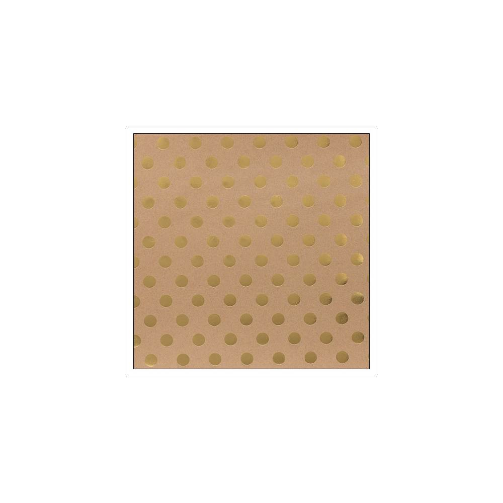 American Crafts Paper Sheet Gold Foil Dots On Kraft Paper DIY Shop 2 Collection