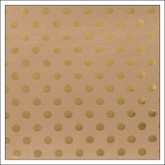 American Crafts Paper Sheet Gold Foil Dots On Kraft Paper DIY Shop 2 Collection