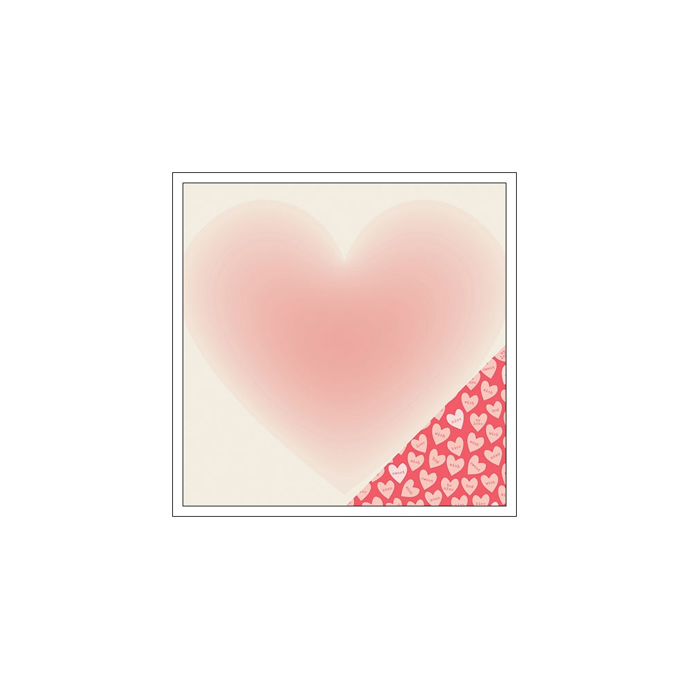 Crate Paper Paper Sheet Sweety Kiss Kiss Collection
