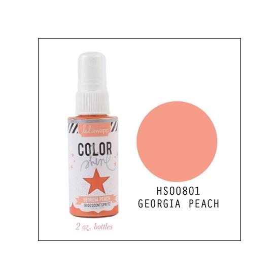 Heidi Swapp Color Shine Iridescent Spritz Georgia Peach