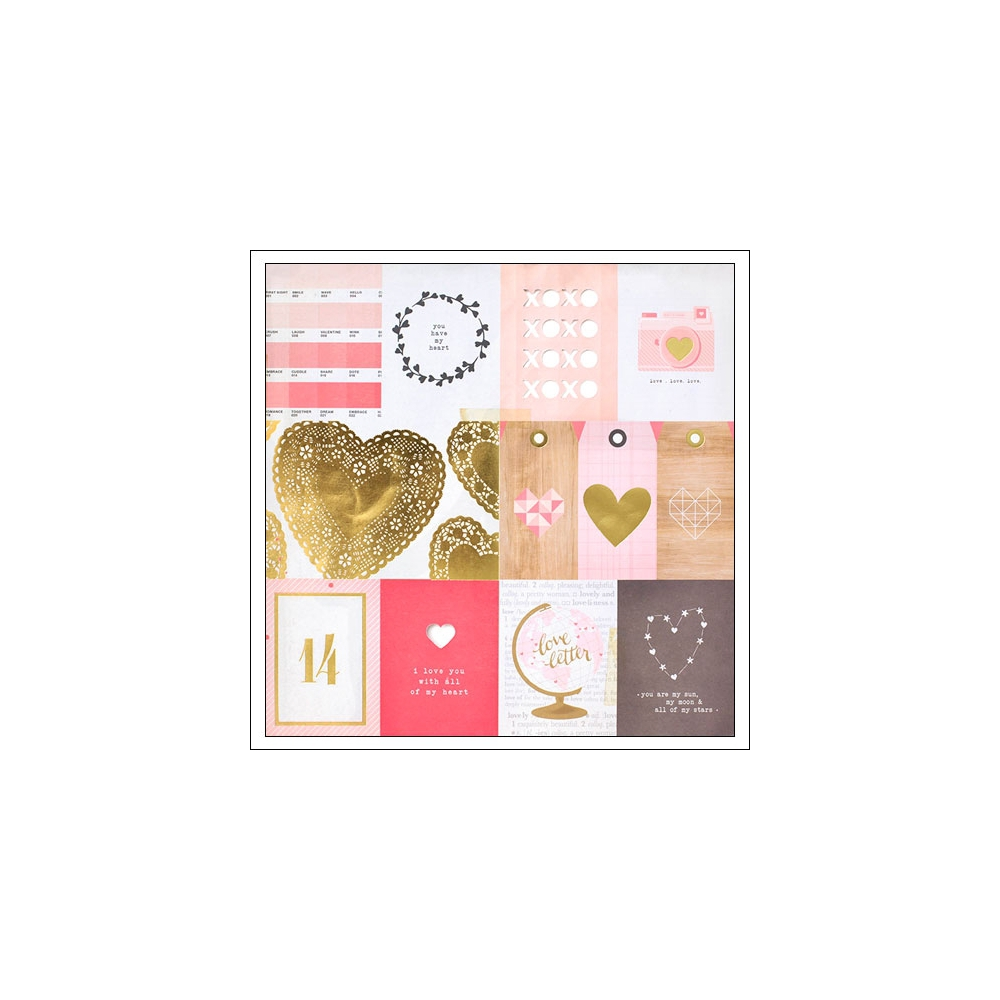 Crate Paper Gold Cut Outs Paper Kiss Kiss Collection