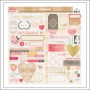 Crate Paper Accent Stickers Kiss Kiss Collection