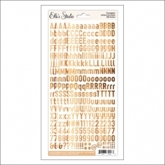 Elles Studio Letters and Numbers Stickers Woodgrain