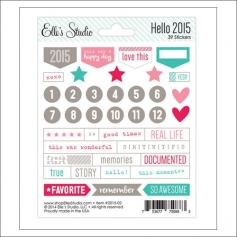 Elles Studio Stickers Hello 2015 Collection